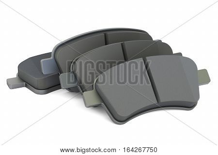 Brake pads 3D rendering isolated on white background