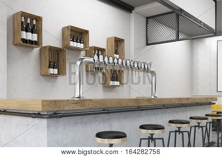 Clsoe Up Of  Bar Stand In A Cafe