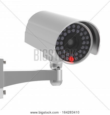 CCTV Security camera on white background 3D rendering