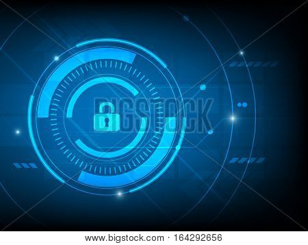 Abstract security log key digital technology background futuristic structure elements concept background design
