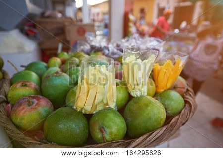 Fruits for sell in street market in Latin America