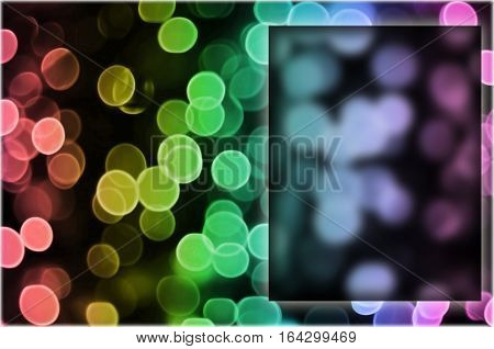 Bokeh Background Image With Specific Copy Space