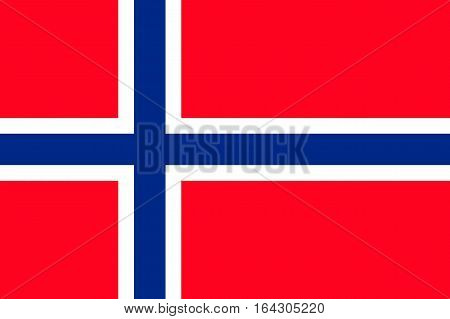 Flag of Norway. Vector illustration of icon.