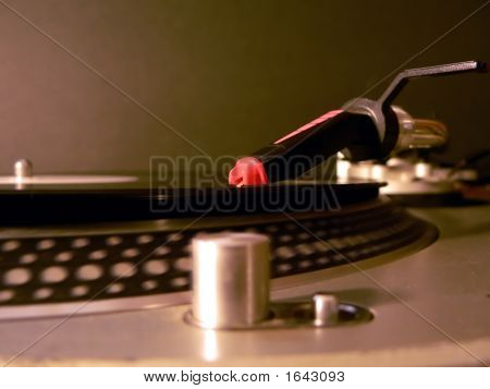 Dj Turntable Needle On Record