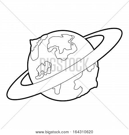 Earth planet icon. Isometric 3d illustration of earth planet vector icon for web