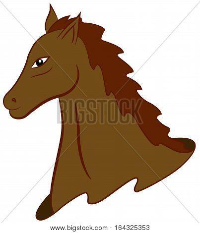 Mustang Horse Cartoon Animal Character. Vector Illustration.
