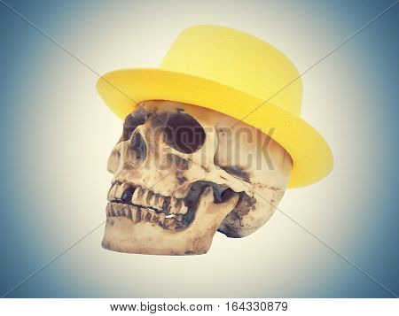Skull In The Yellow Hat