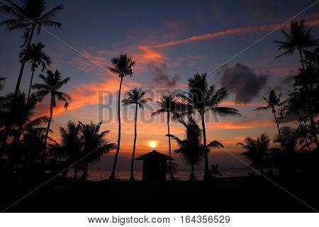 Coconut beach sunrise at Ang Thong island,Thailand.