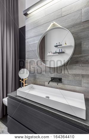 Bathroom With Countertop Washbasin