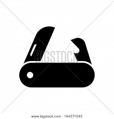 pocket knife on white background. Vector illustration.