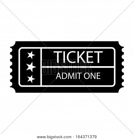 Ticket icon. Coupon sign. Isolated on background. Simple vector illustration