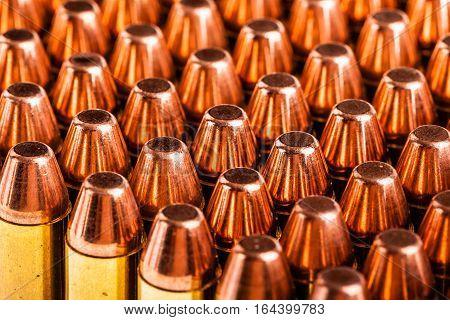 Handgun Ammunitions On White