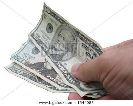 Cash Payment Over White