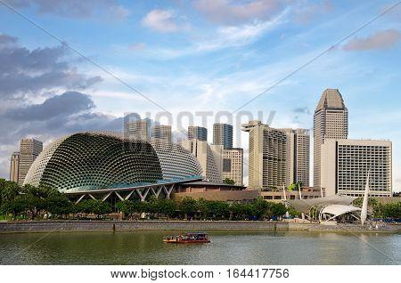 SINGAPORE - JANUARY 2: View of Marina Bay architecture on January 2, 2011 in Singapore. Marina Bay is famous destination in Singapore.
