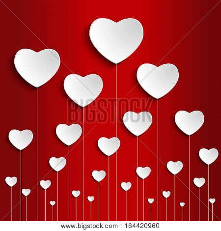 Heart for Valentines Day and Wedding Background