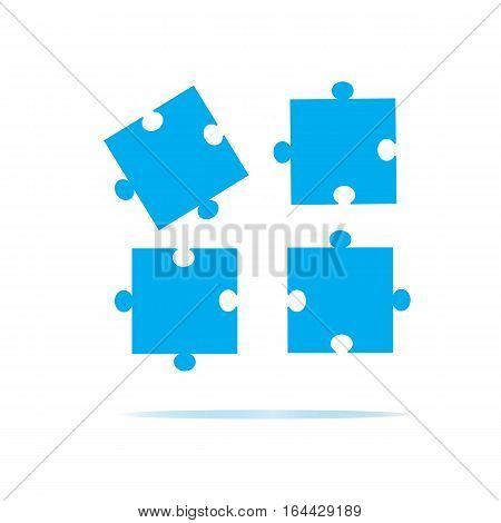 puzzles piece icon on white background. puzzles piece sign. flat design style.