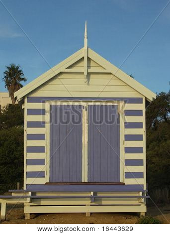 Bathing box at Brighton Beach