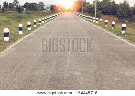 asphalt highways road in rural scene use land transport and traveling backgroundbackdrop