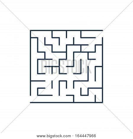 Vector easy labyrinth. Maze or Labyrinth with Entry and Exit.