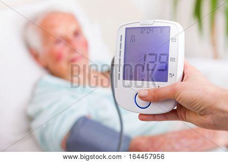 Very Good Blood Pressure Of Senior Woman