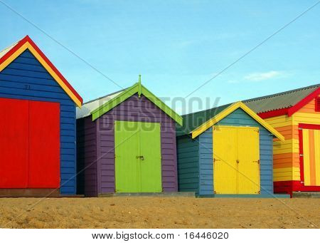 Bathing Boxes at Brighton Beach