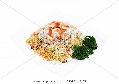 Stir fried rice noodles-Hong Kong with seafood