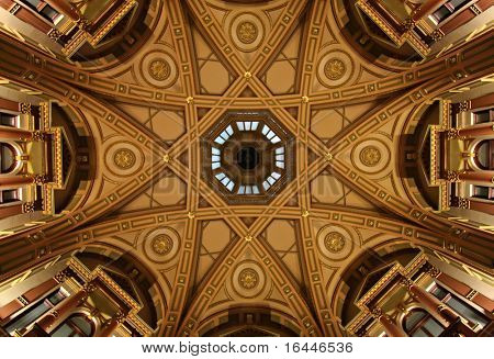 Ornate Dome Ceiling in old banking chambers