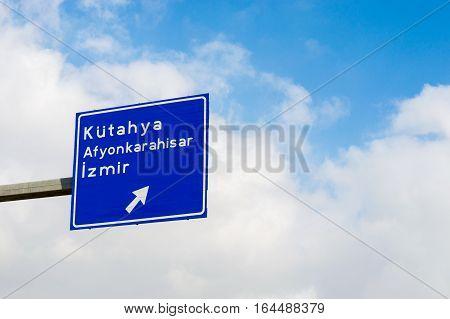 Turkish Road Signboard, Tepebasi District In Eskisehir / Turkey