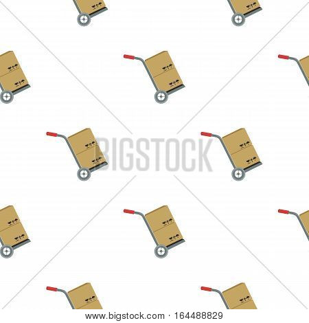 Truck with boxes icon of vector illustration for web and mobile design