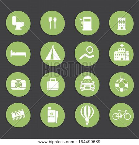 Travel icons set vector easy design .