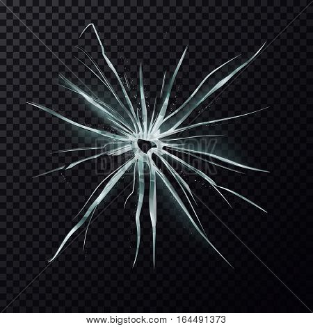 Damage on screen background. Cracks on splitted window or broken glass, shattered mirror backdrop. Crush or damage effect, destruction or violence, burglary, vandal theme