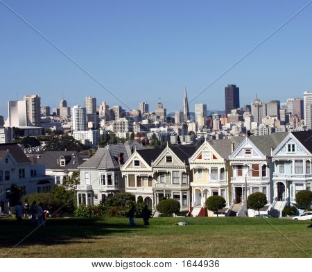 Painted Ladies Of Alamo Square In San Francisco