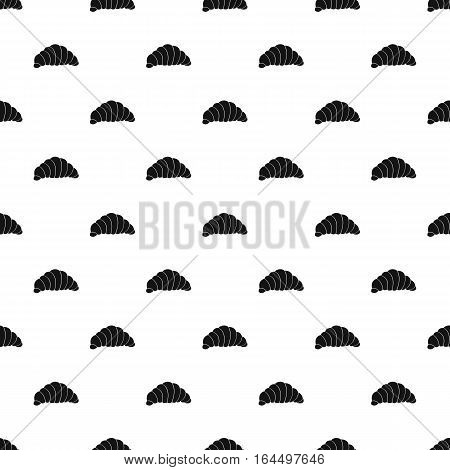 Croissant pattern. Simple illustration of croissant vector pattern for web