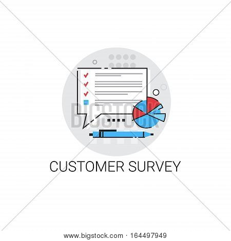 Customer Survey Service Appreciate Icon Vector Illustration