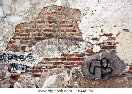 Old weathered wall for grunge background