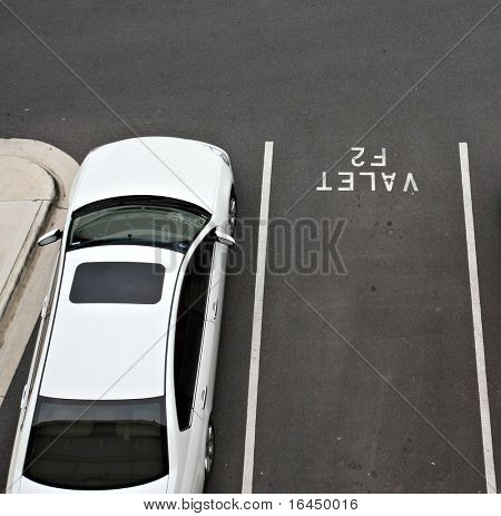 Valet car parking space