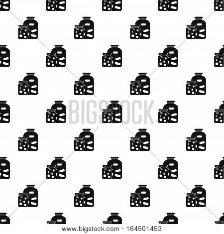 Jam jars pattern. Simple illustration of jam jars vector pattern for web