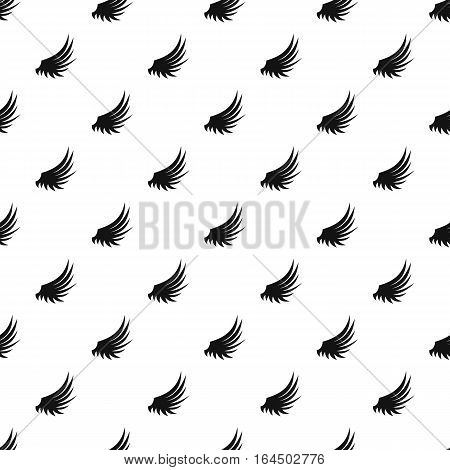 Plumage wing pattern. Simple illustration of plumage wing vector pattern for web