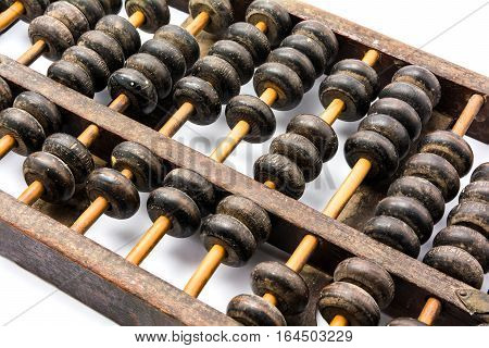 Wooden Abacus Isolated