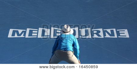 MELBOURNE, AUSTRALIA - JANUARY 25: Linesman at the 2010 Australian Open on January 25, 2010 in Melbourne, Australia