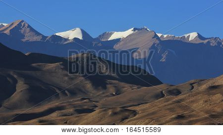 Mountain ranges in the Mustang region, Nepal.