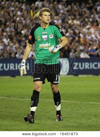 MELBOURNE, - MARCH 20: Melbourne Victory goalkeeper Mitchell Langerak in the  A-League grand final loss to Sydney FC  on March 20, 2010 in  Melbourne.