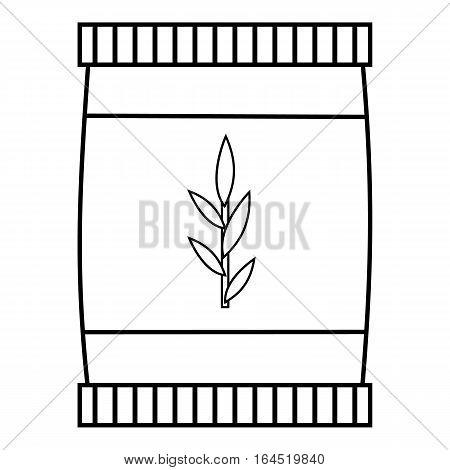 Plastic jar icon. Outline illustration of plastic jar vector icon for web