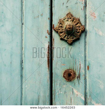 Old paited door