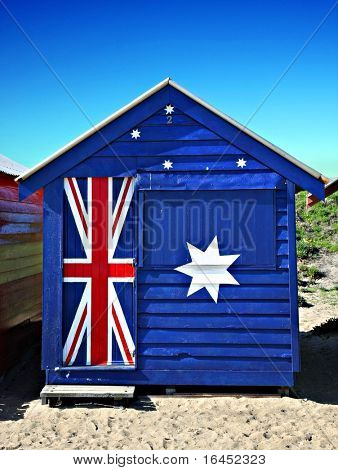 Bathing box on Melbourne's brighton beach