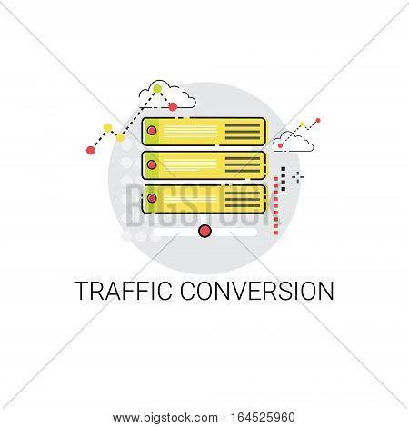 Traffic Conversion Marketing Optimization Icon Vector Illustration