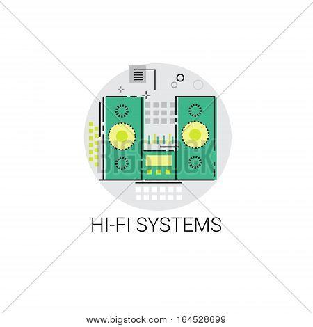 Music Studio Audio Hi Fi System Icon Vector Illustration