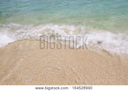 Waves at tropical beach at the Indian Ocean