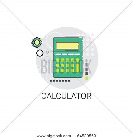 Calculator Accountant Finance Analysis Icon Vector Illustration