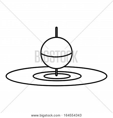 Small floating bobber icon. Outline illustration of small floating bobber vector icon for web
